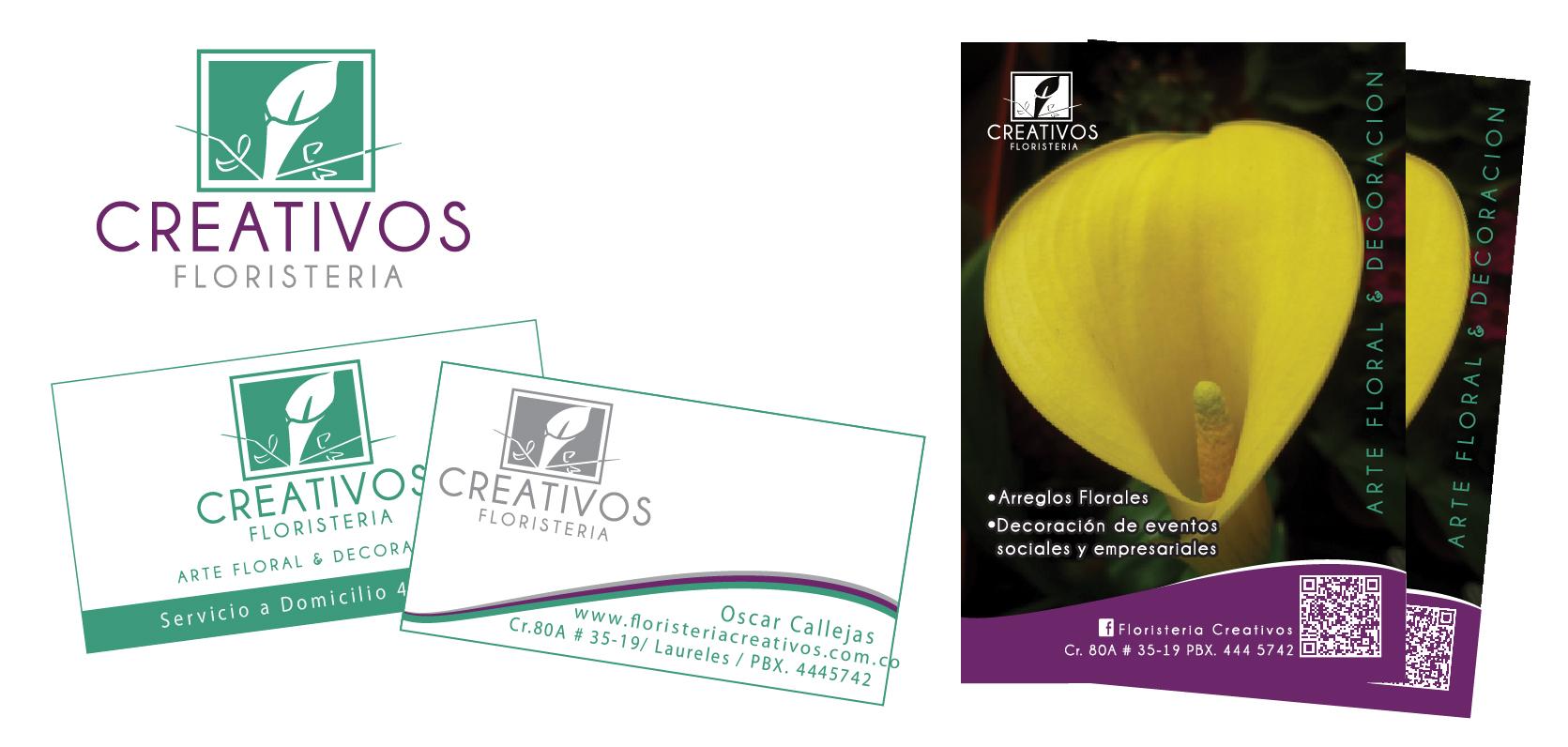 Creativos Floristeria Branding