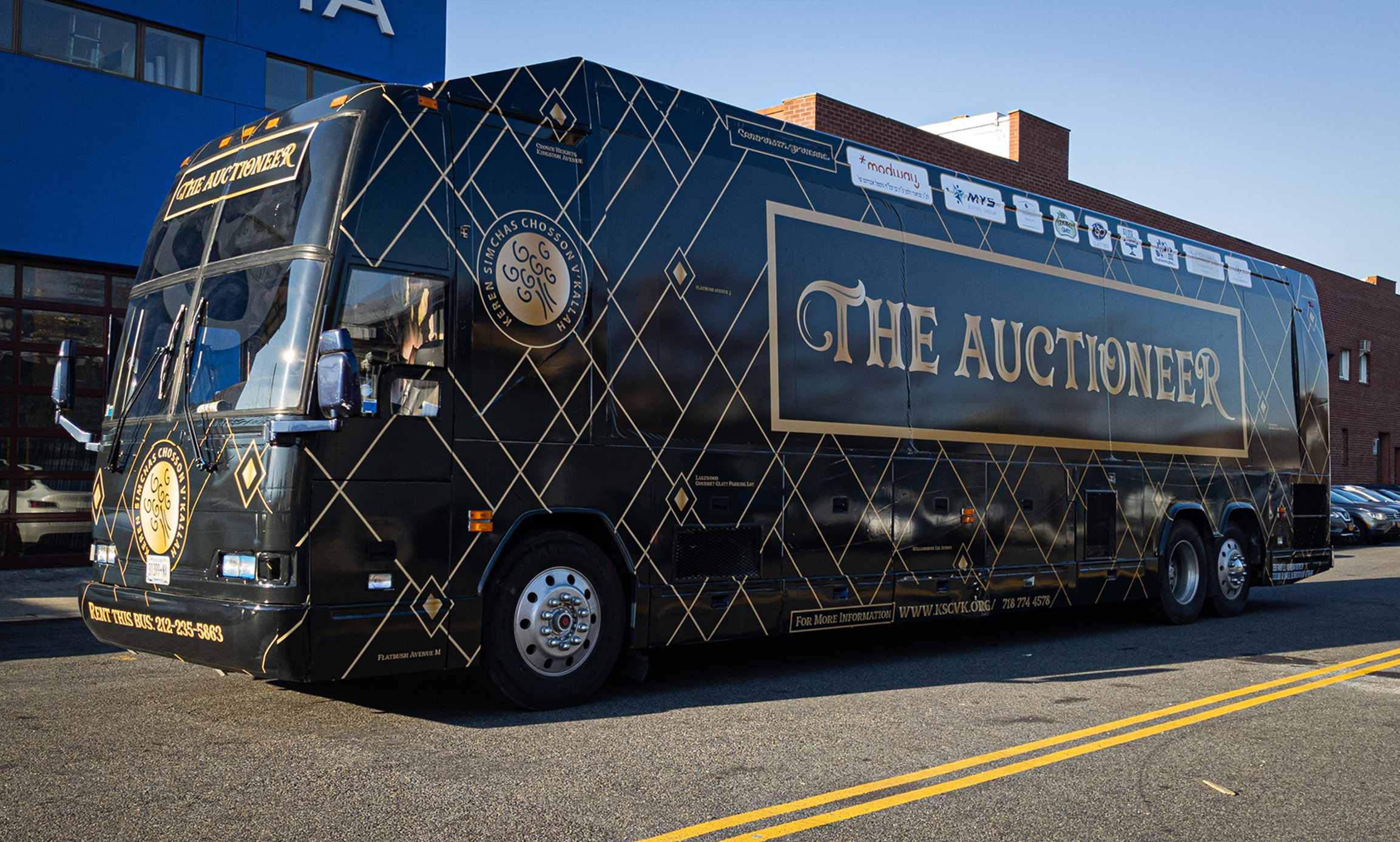 The Auctioneer / Annual Auction Bus Wrap Design